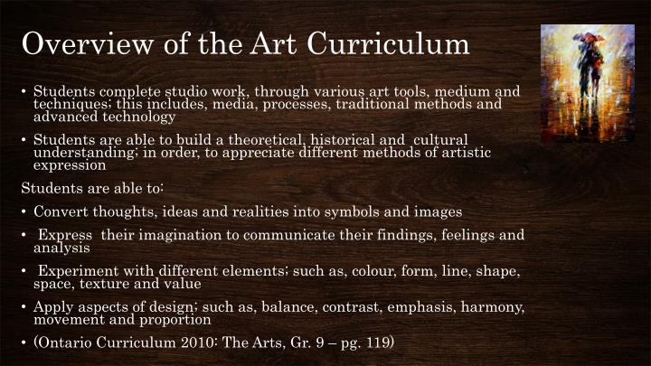 Overview of the Art Curriculum