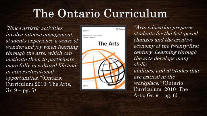 The Ontario Curriculum