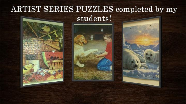 ARTIST SERIES PUZZLES completed by my students!