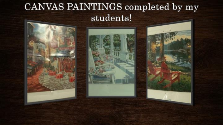 CANVAS PAINTINGS completed by my students!