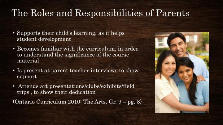 The Roles and Responsibilities of Parents