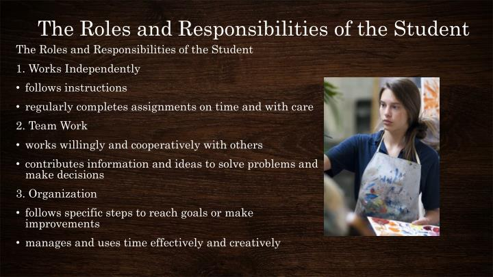 The Roles and Responsibilities of the Student