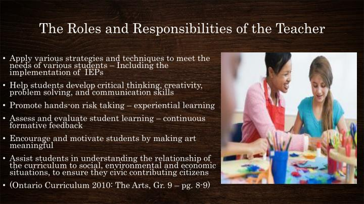 The Roles and Responsibilities of the Teacher