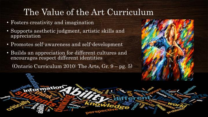 The Value of the Art Curriculum