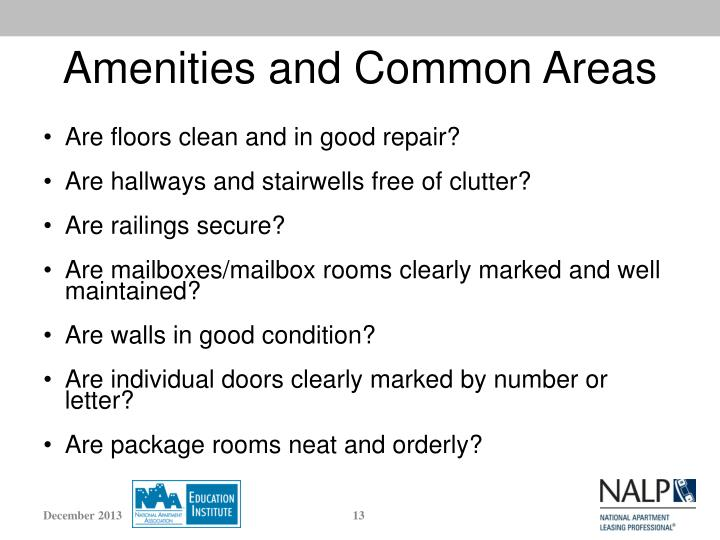 Amenities and Common Areas