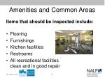 amenities and common areas1
