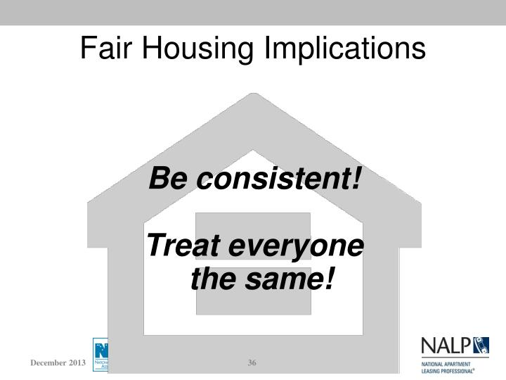 Fair Housing Implications