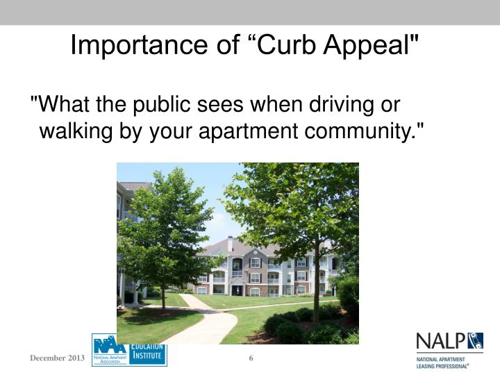 "Importance of ""Curb Appeal"""
