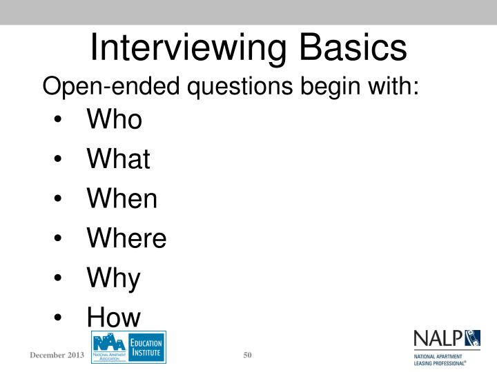 Interviewing Basics