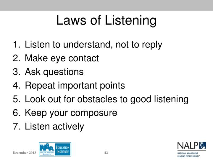 Laws of Listening