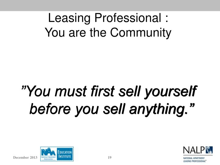 Leasing Professional :