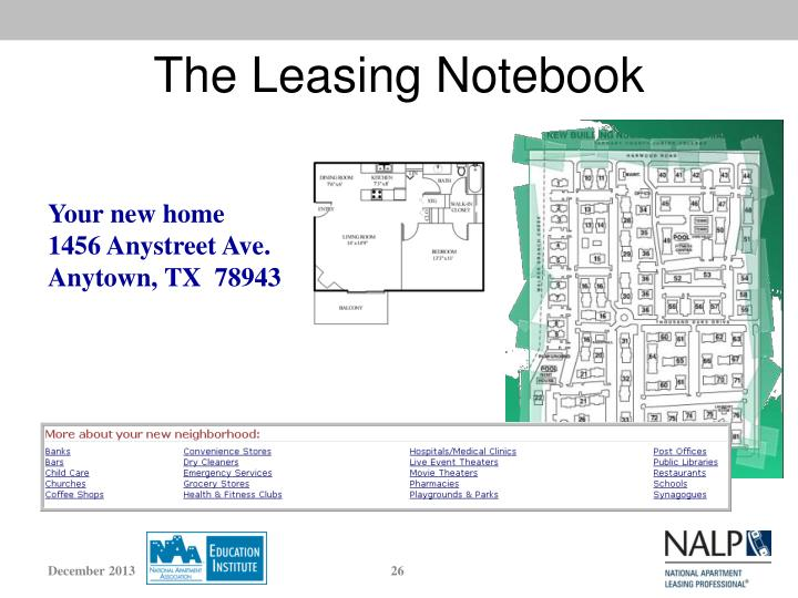 The Leasing Notebook
