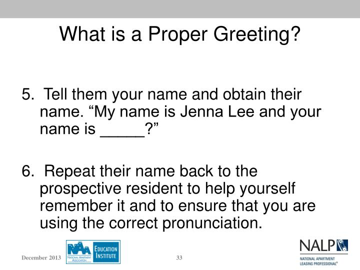 What is a Proper Greeting?