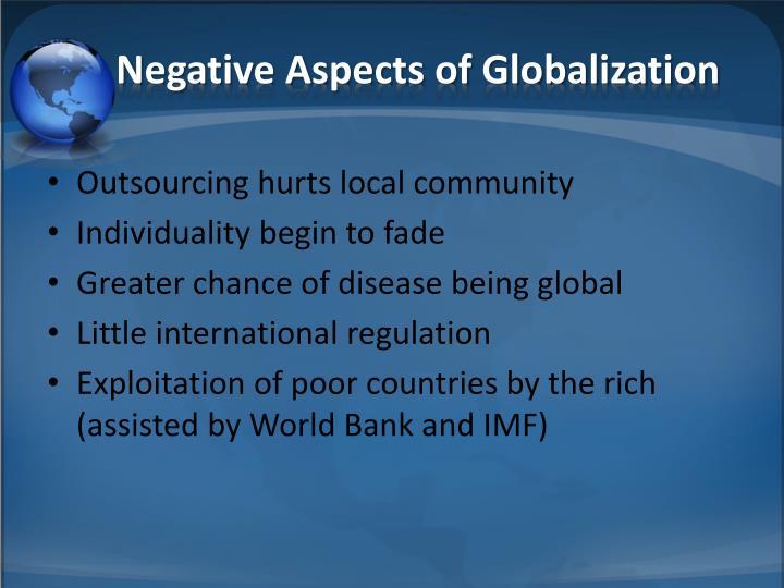 Negative Aspects of Globalization