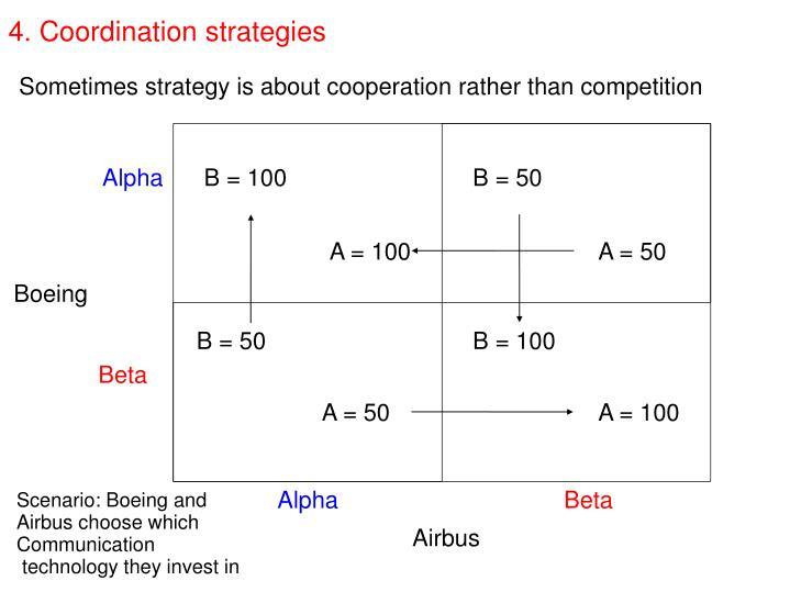4. Coordination strategies