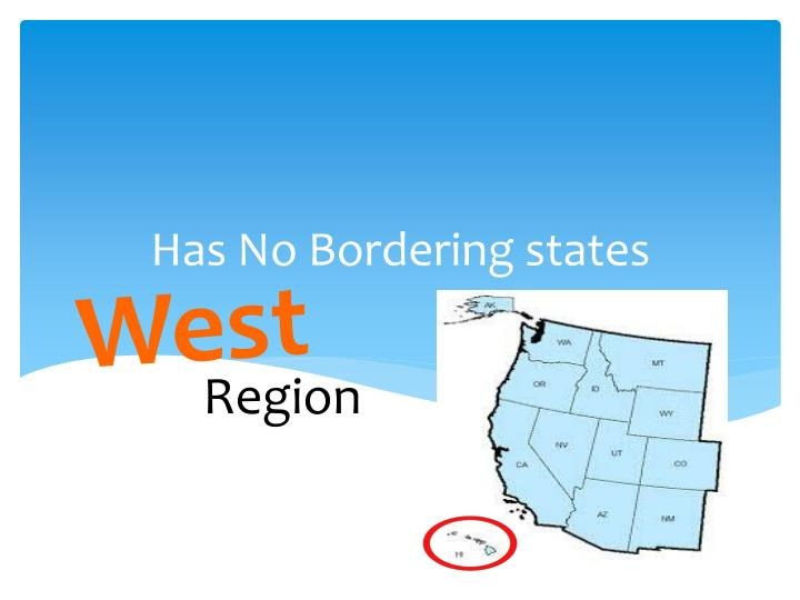 Has No Bordering states