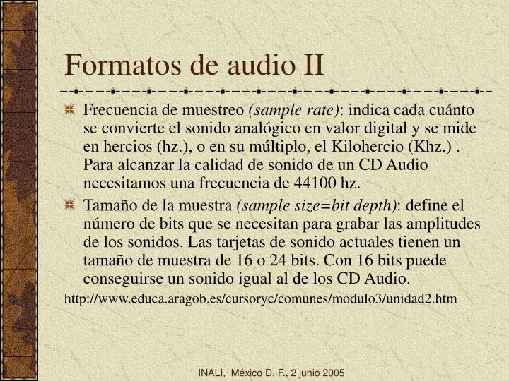 Formatos de audio II