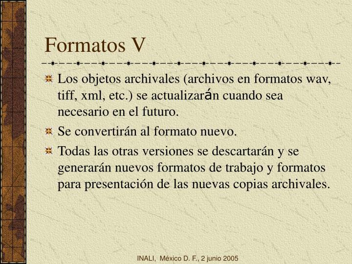 Formatos V