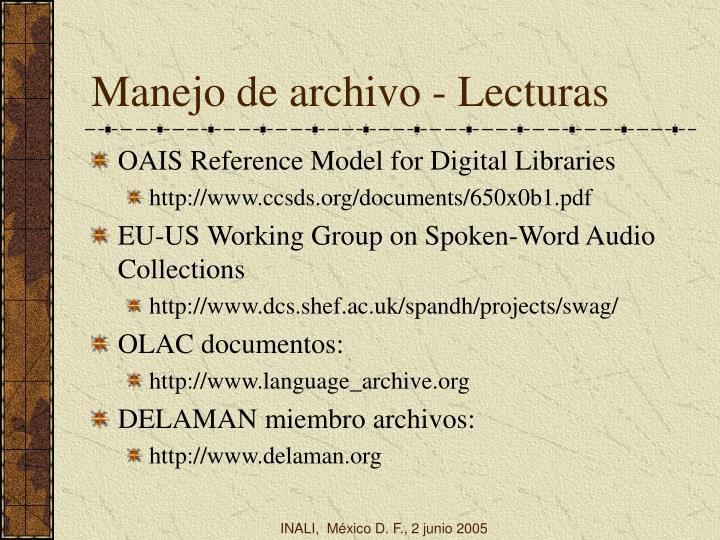 Manejo de archivo - Lecturas