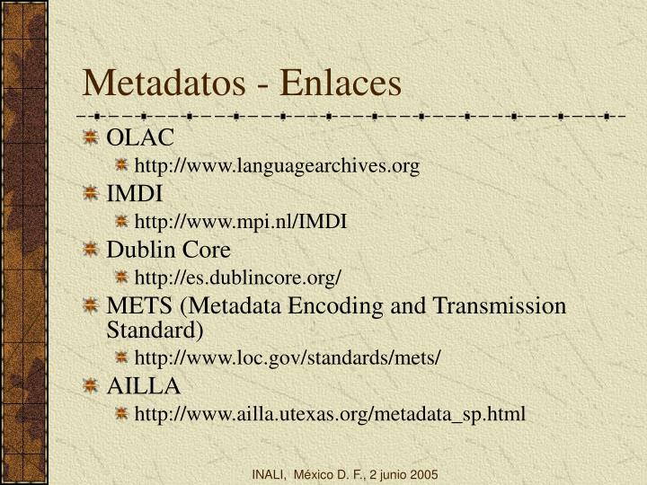 Metadatos - Enlaces