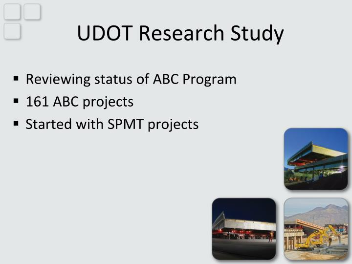 UDOT Research Study