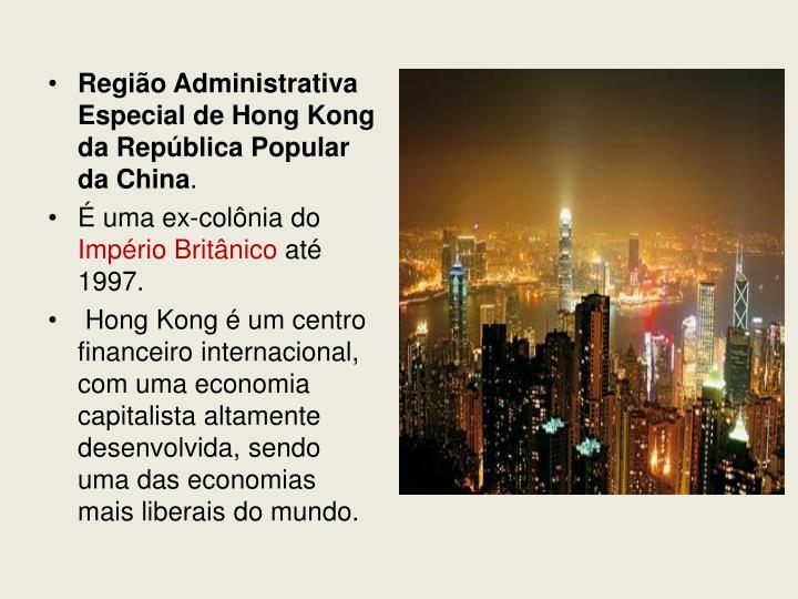 Região Administrativa Especial de Hong Kong da República Popular da China