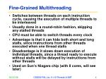 fine grained multithreading
