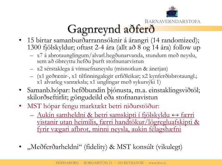 Gagnreynd aðferð