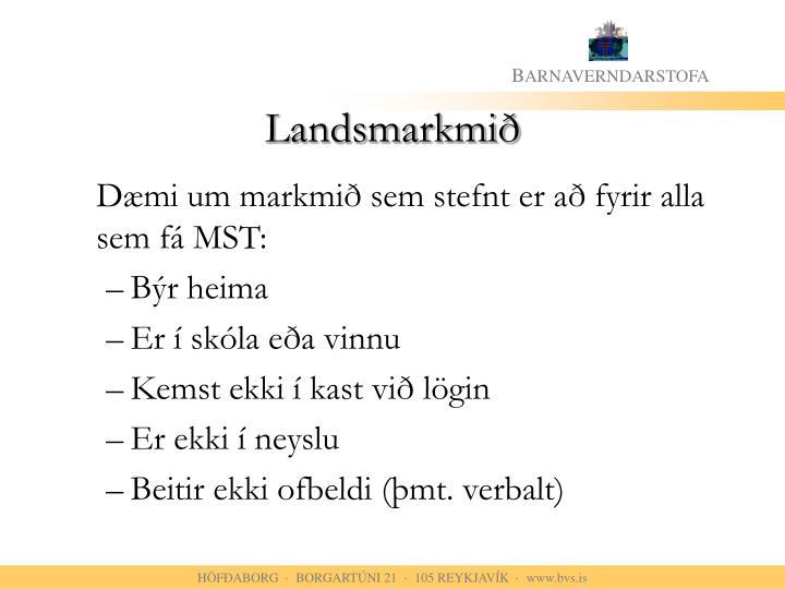 Landsmarkmið