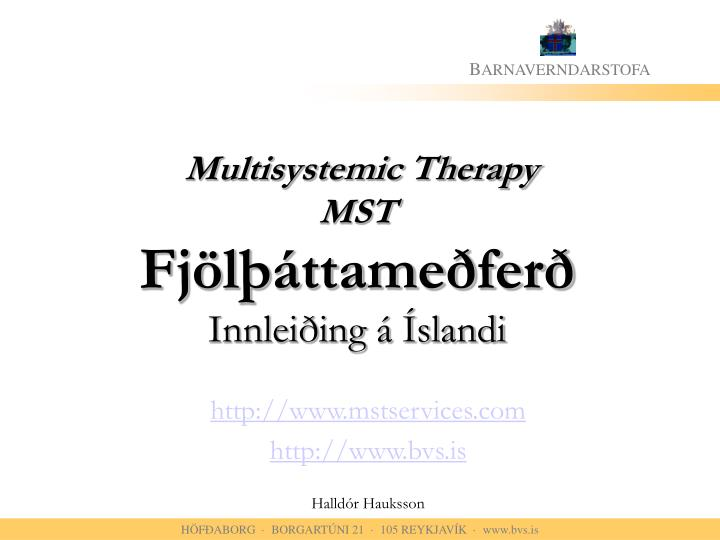 Multisystemic Therapy