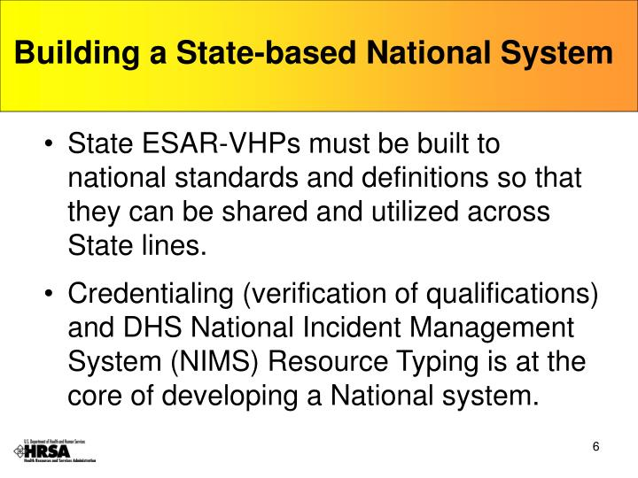 Building a State-based National System
