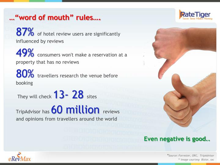 "…""word of mouth"" rules…."