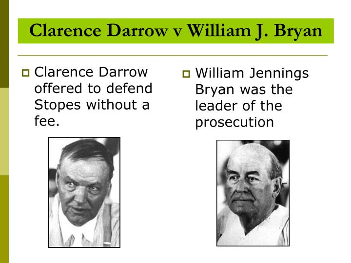 Clarence Darrow v William J. Bryan