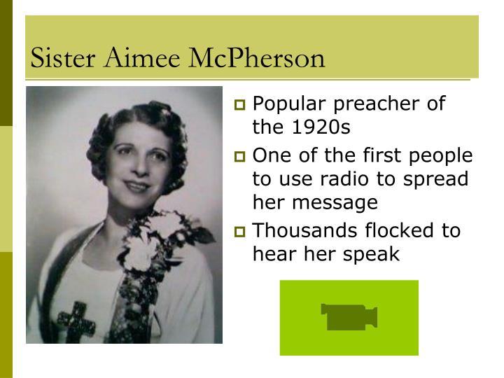 Sister Aimee McPherson