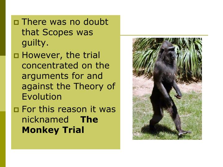 There was no doubt that Scopes was guilty.