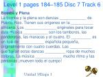 level 1 pages 184 185 disc 7 track 6