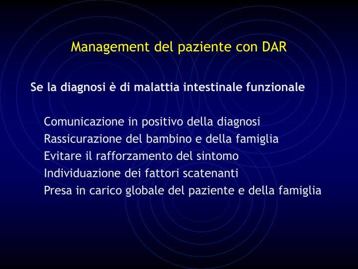 Management del paziente con DAR