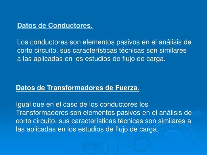 Datos de Conductores.