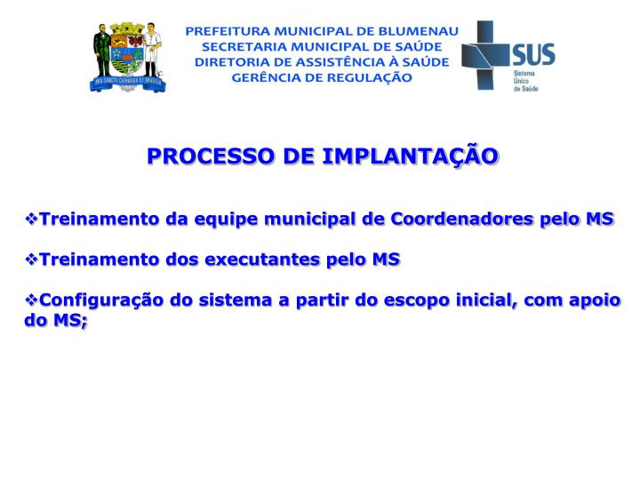 PROCESSO DE IMPLANTAO