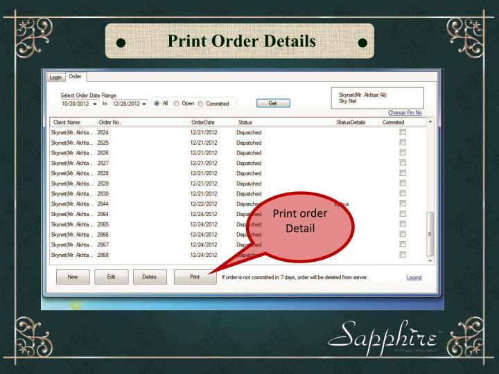 Print Order
