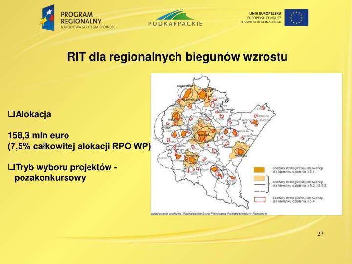 RIT dla regionalnych biegunów wzrostu