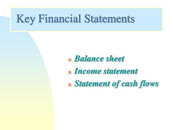 Key Financial Statements