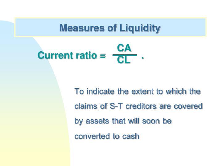 Measures of Liquidity