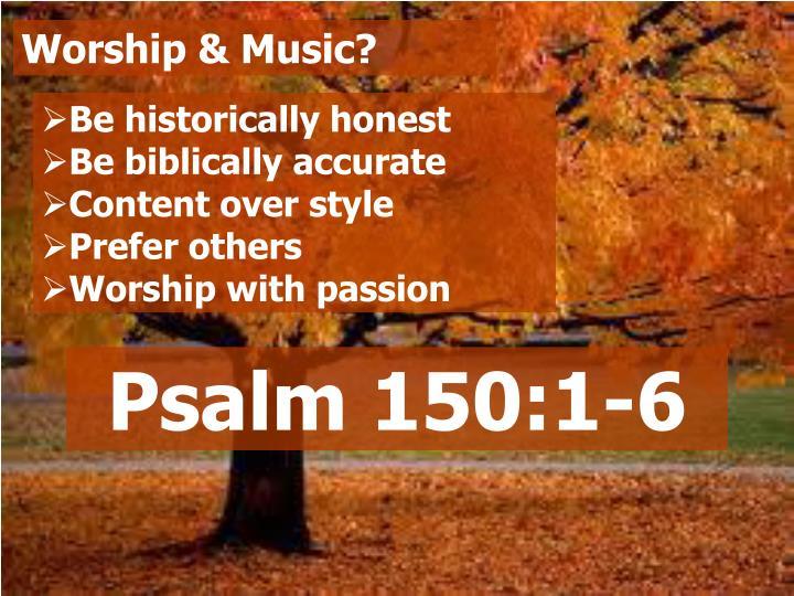 Worship & Music?