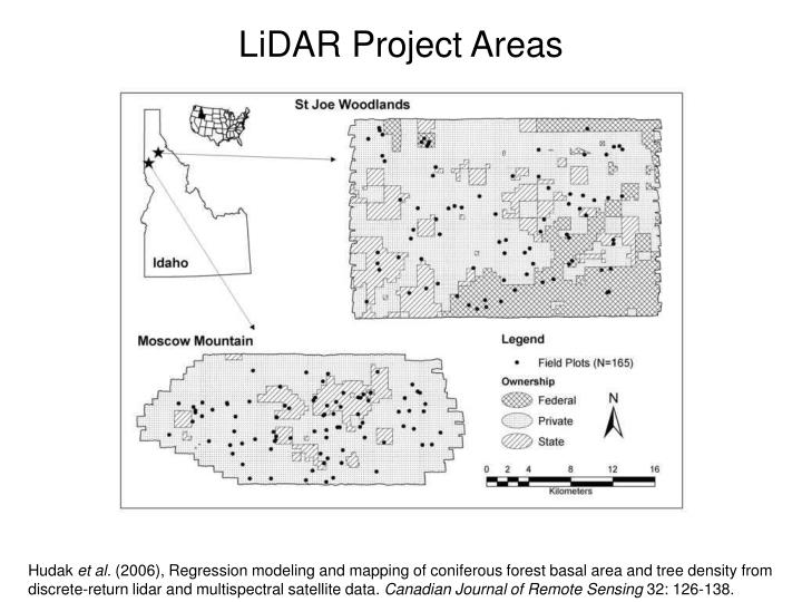 LiDAR Project Areas