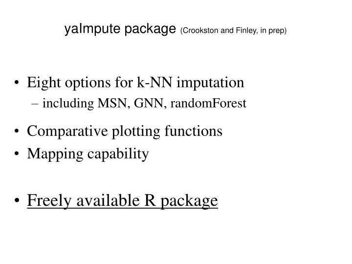 yaImpute package