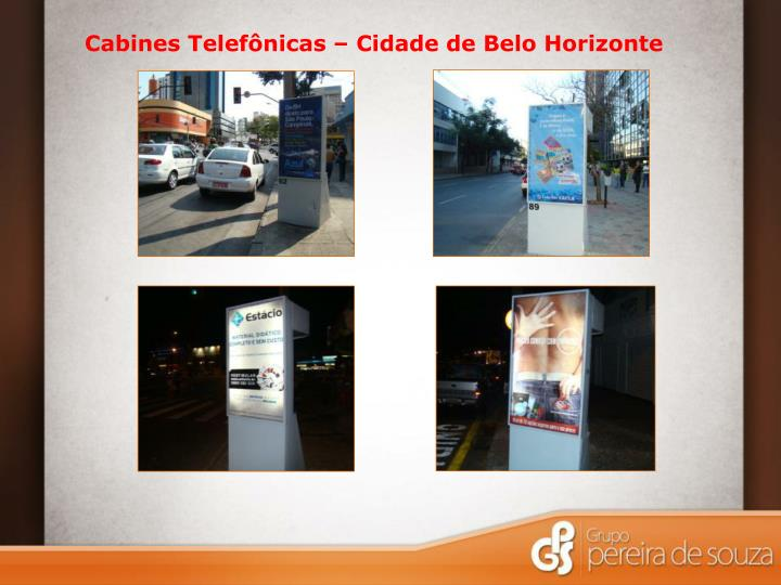 Cabines Telefônicas – Cidade de Belo Horizonte