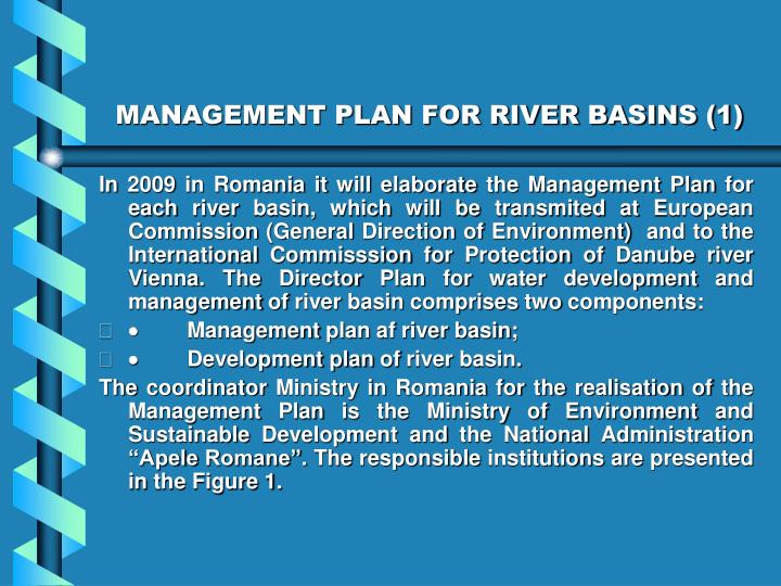 MANAGEMENT PLAN FOR RIVER BASINS (1)