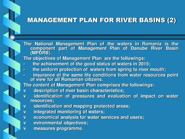 MANAGEMENT PLAN FOR RIVER BASINS (2)