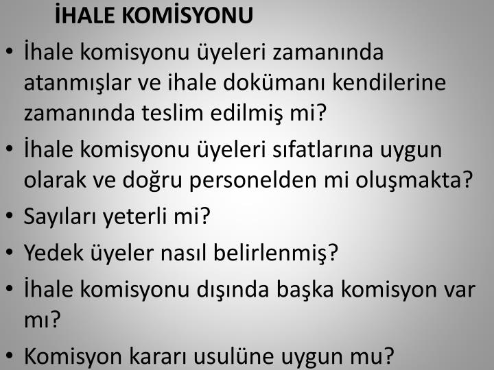 HALE KOMSYONU